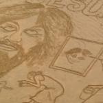 Arte callejero sobre la arena