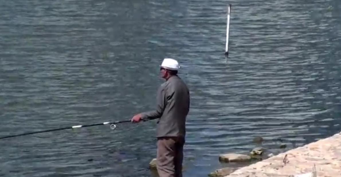 pescador en Astana Kazajistan