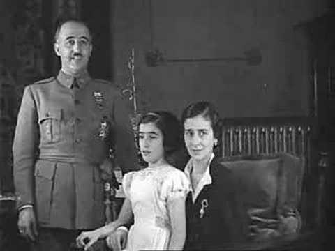 Francisco Franco ventrílocuo con su hija Carmen