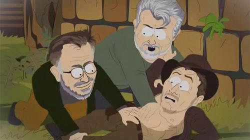 South Park Indiana Jones violación Spielberg y Lucas a Harrison Ford