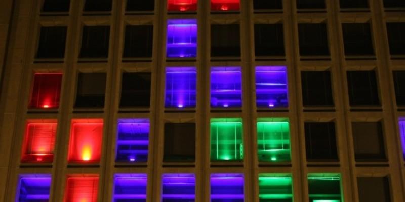 Tetris ventanas fachada rascacielos